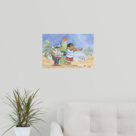 "Poster Print /""Lost Skier/"""