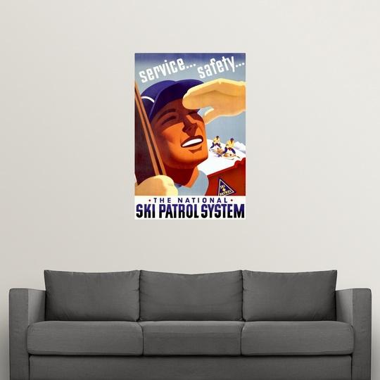 "Vintage Poster/"" Poster Print /""The National Ski Patrol System"