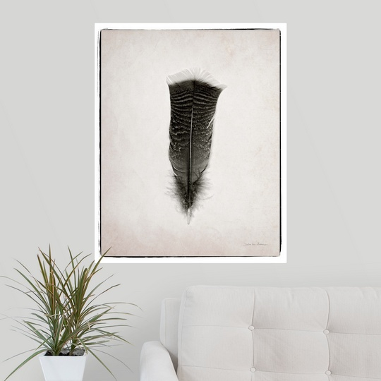 """Poster Print /""""Feather III BW/"""""""