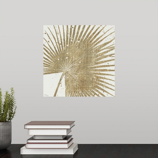"""Poster Print /""""Gold Leaves II/"""""""