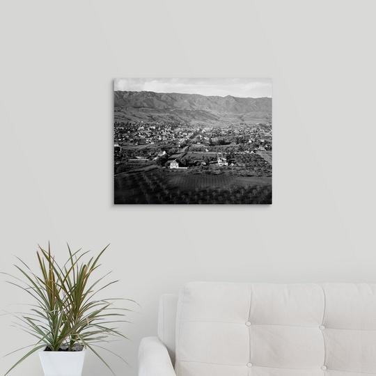 "Canvas Art Print /""Vintage photograph of Santa Barbara California/"""