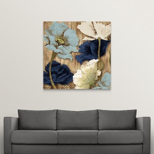 "Canvas Art Print /""Blue Joyful Poppies II/"""
