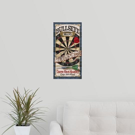 """Poster Print /""""Bullseye Moonshing/"""""""
