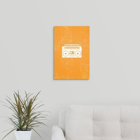 "Canvas Art Print /""Boombox silhouette art/"""