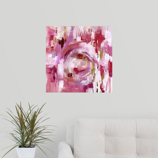 Poster Print Wall Art entitled Abstract Dream Pink Gold II