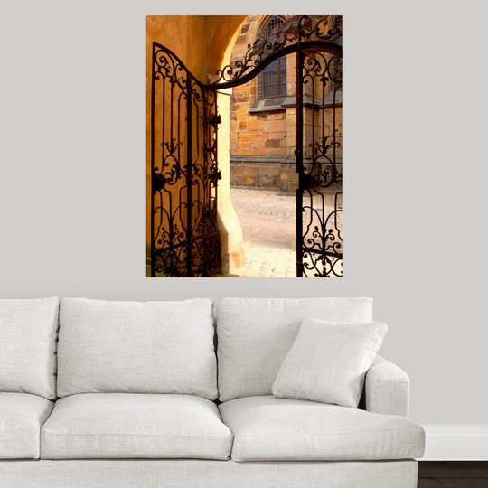 """Poster Print /""""Wrought Iron Cathedral Gate/"""""""