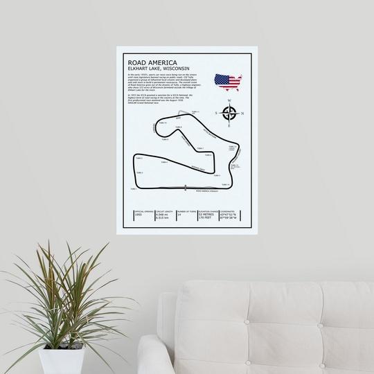 """Poster Print /""""Road America/"""""""