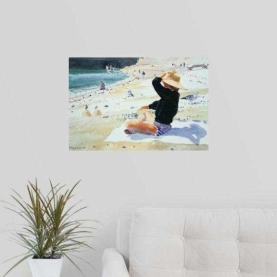 Poster Print Wall Art entitled Black jumper
