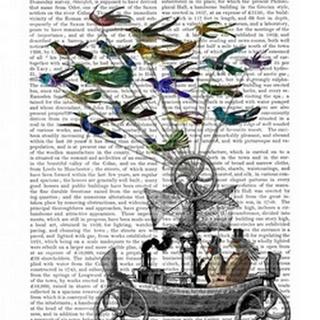 Bird Boat Book Print