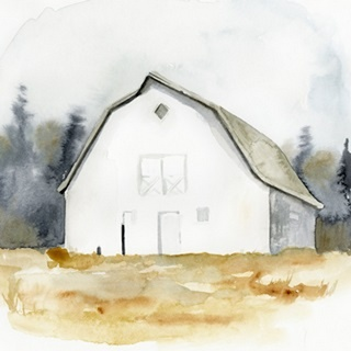 White Barn Watercolor III