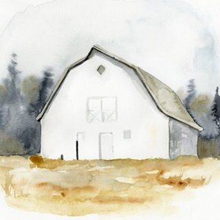 White Barn Watercolor III