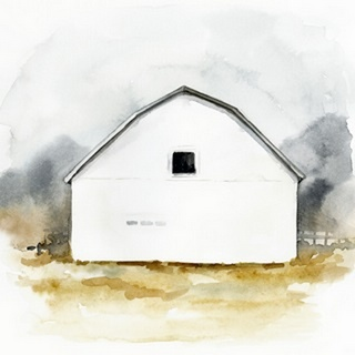 White Barn Watercolor II