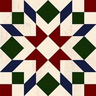 Christmas Barn Quilt Collection A
