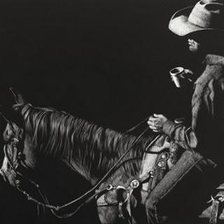 Cowboy Scratchboard I