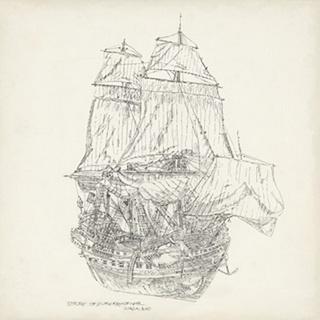 Antique Ship Sketch V