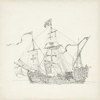 Antique Ship Sketch VI