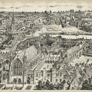 Bird's Eye View of London - Ely Place