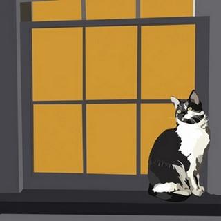 Cat on a Window Sill I