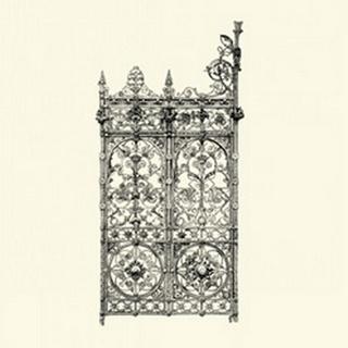 BandW Wrought Iron Gate V