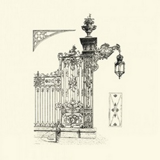 BandW Wrought Iron Gate IV