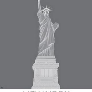 New York Statue of Liberty Monochrome