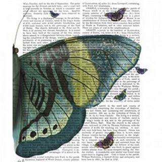 Butterfly in Turquoise and Yellow b