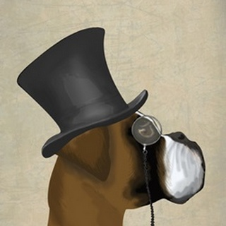 Boxer, Formal Hound and Hat