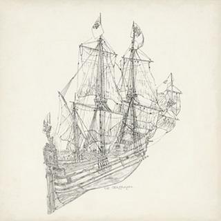 Antique Ship Sketch III