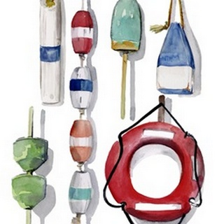 Watercolor Buoys II