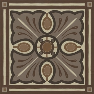 Piazza Tile in Brown I