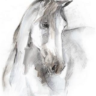 Watercolor Equine Study I