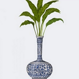 Chinoiserie Vase 3, With Plant