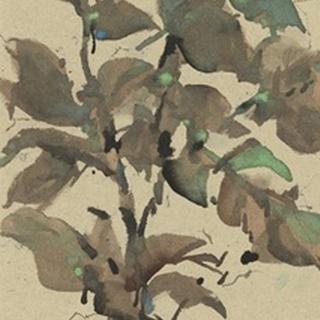 Leaves on Taupe I
