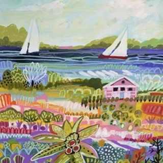 Two Sailboats and Cottage I