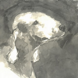 Sepia Modern Dog I