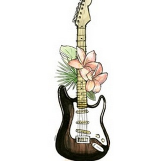 Guitar Foliage II