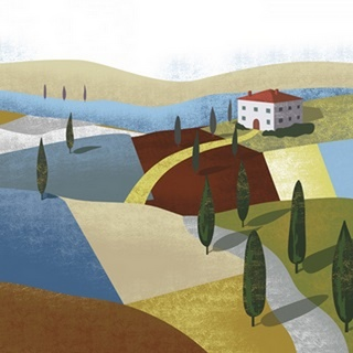 Illustrated Italian Landscape I