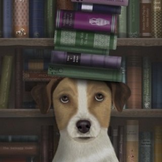 Jack Russell and Books