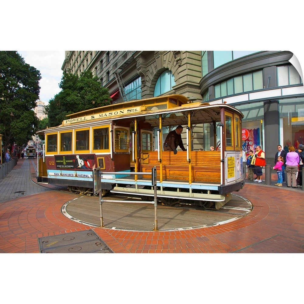 Wall Decal Entitled Cable Car At Turntable On Powell