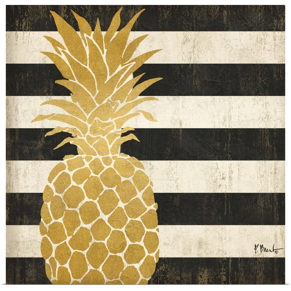Poster Print Wall Art Entitled Gold Coast Pineapple