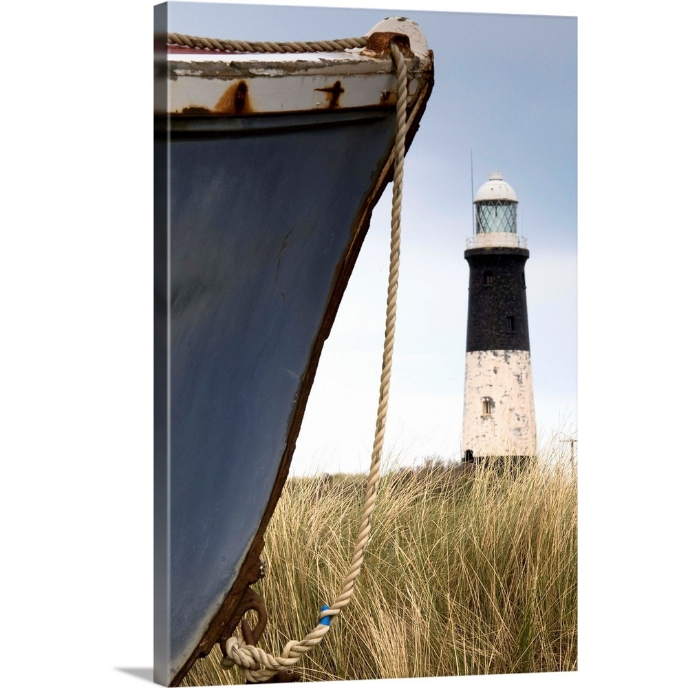 Solid-Faced Canvas Print Wall Art Entitled Abandoned Boat