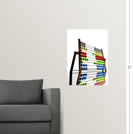 Poster Print Wall Art entitled Abacus, computer artwork | eBay