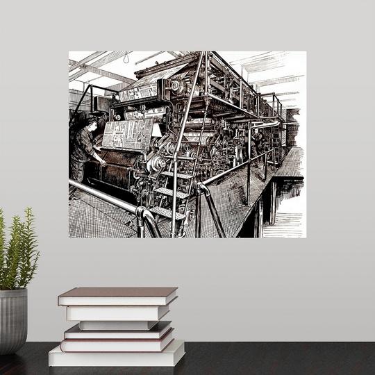 Poster Print Wall Art entitled Newspaper printing press   eBay
