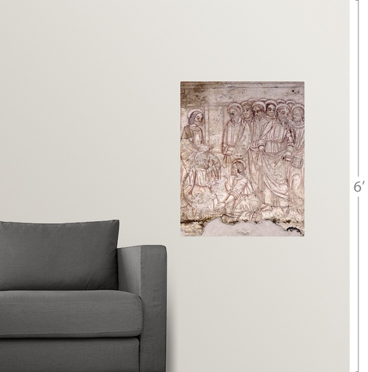 Wall Decal Entitled Jesus Washing Peter S Feet While The Apostles