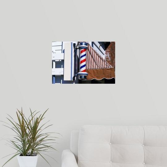 034-Barber-shop-pole-034-Poster-Print miniatura 2