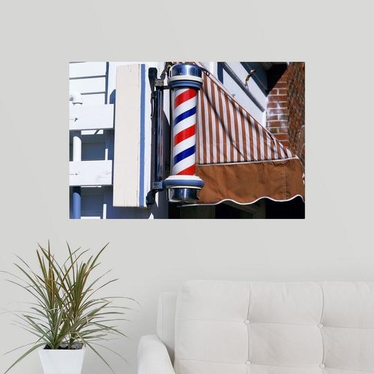 034-Barber-shop-pole-034-Poster-Print miniatura 12