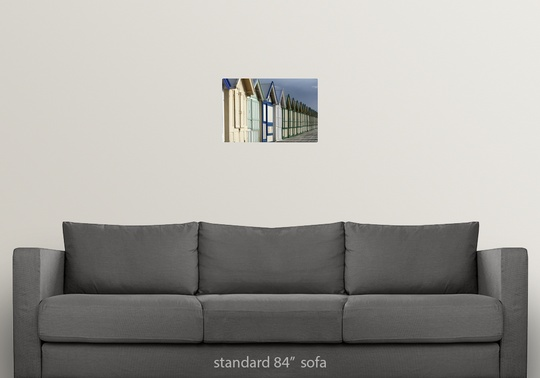 Poster-Print-Wall-Art-entitled-Beach-cabins-on-a-2-km-boardwalk-Cayeux-sur-mer miniatuur 7