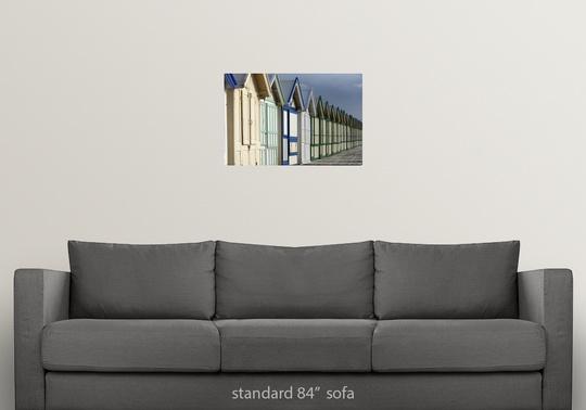 Poster-Print-Wall-Art-entitled-Beach-cabins-on-a-2-km-boardwalk-Cayeux-sur-mer miniatuur 8