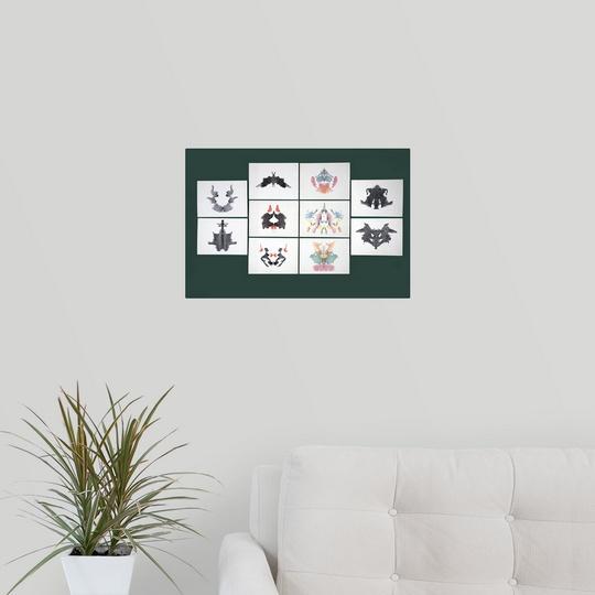 034-Rorschach-Inkblot-Test-034-Poster-Print miniature 2