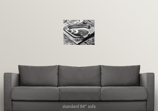 Solid-Faced-Canvas-Print-Wall-Art-entitled-Yankee-Stadium-in-the-Bronx-New-York thumbnail 2